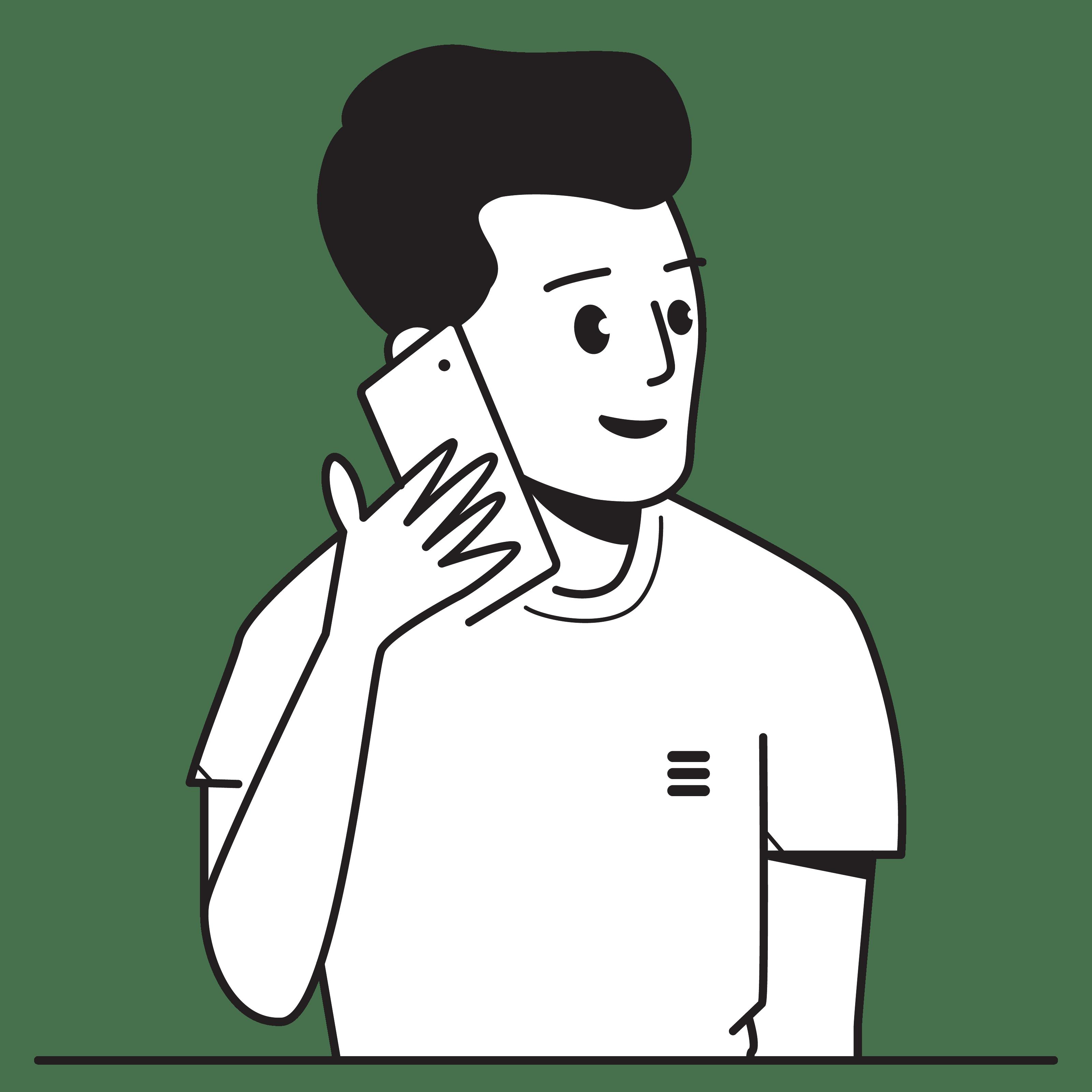 Man, Communication, Calling