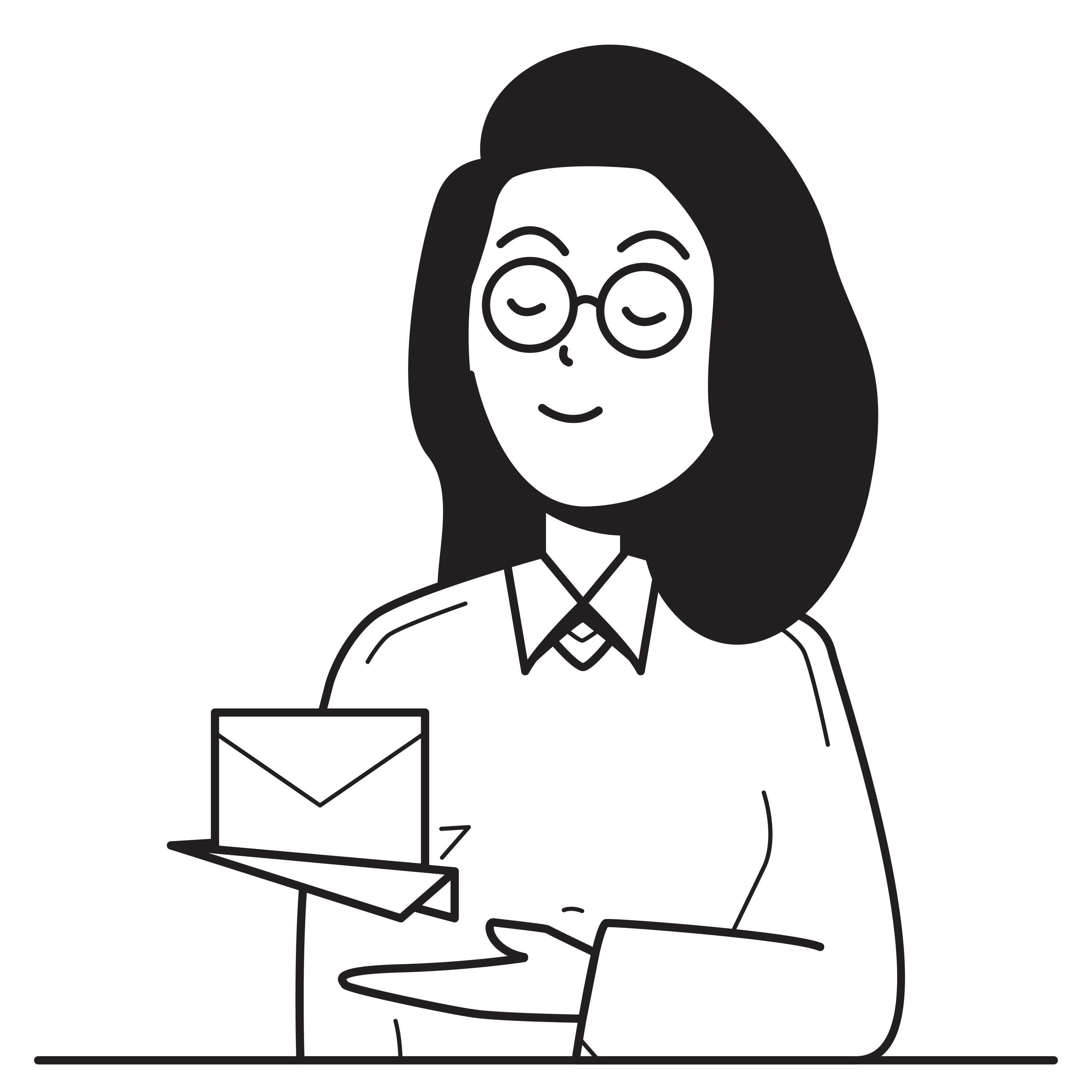 Woman, Communication, Email